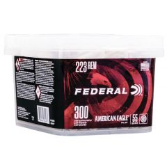 American Eagle 223 Rem 55 gr FMJBT 300 Round Bucket