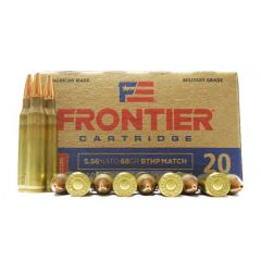 Frontier 5.56 NATO 68 GR. BTHP Match 20 RDS ~ Loaded with Hornady Bullets