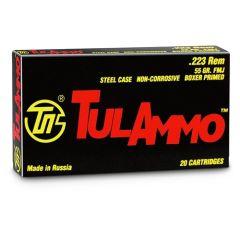 TulAmmo .223 55gr FMJ  - 20ct