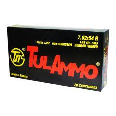 TulAmmo 7.62 x 54mm 148gr FMJ Berdan Primed