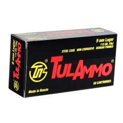 TulaAmmo 9mm 115 gr FMJ
