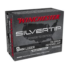 Winchester 9mm Luger 115 gr JHP Silver Tip New