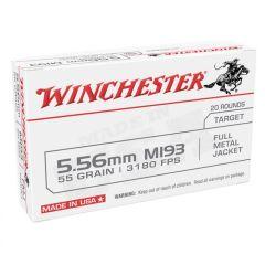 Winchester 5.56 55 gr FMJ 20ct