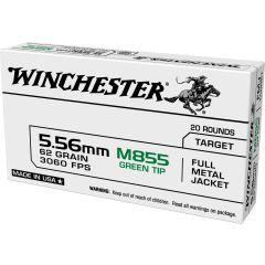 Winchester 556 NATO 62gr FMJ 20rd