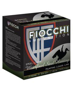 "Fiocchi Waterfowl Steel Hunting Golden Waterfowl 12ga 2-3/4"" #4 Shot 1-1/8oz Steel 25/bx"
