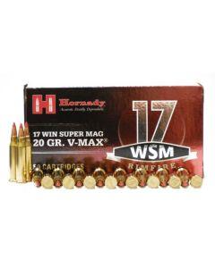 Hornady 17 WSM 20 GR V-MAX